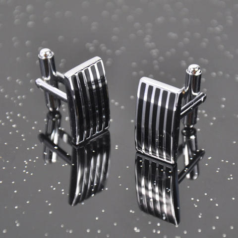 Manžetové knoflíčky ocel - proužky - 2