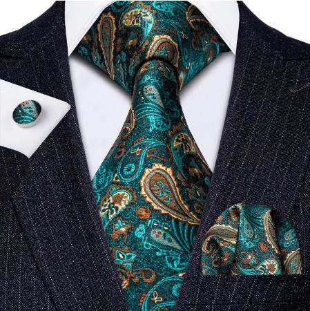 Manžetové knoflíčky s kravatou a šálou - 2