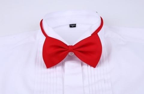 Bíla manžetová košile, velikost 43 - 3