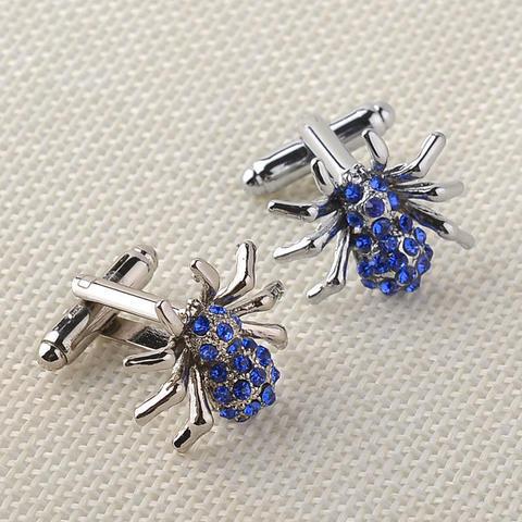 Manžetové knoflíčky modrý pavouček - 3