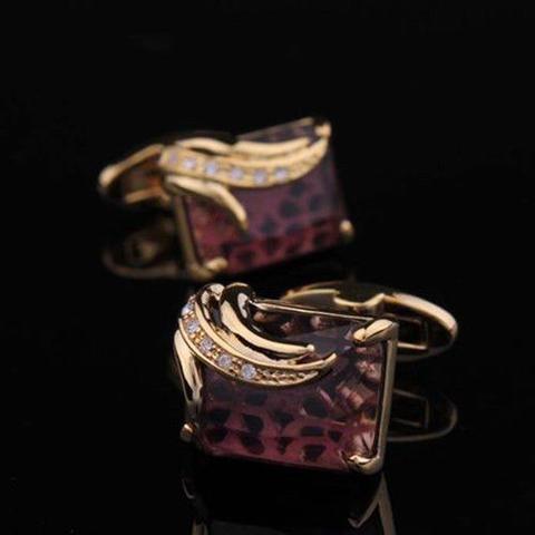 Manžetové knoflíčky Elefant - královská fialová - 3