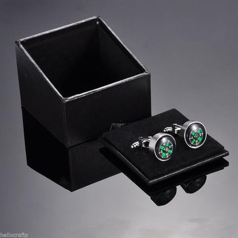 Manžetové knoflíčky pohyblivý kompas - 3