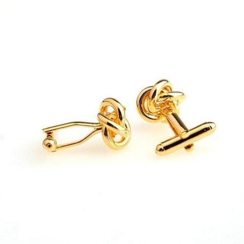 Manžetové knoflíčky uzlíčky gold - 3
