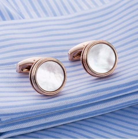 Manžetové knoflíčky perleť natur - 3