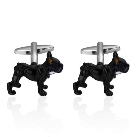 Manžetové knoflíčky černý buldog - 3