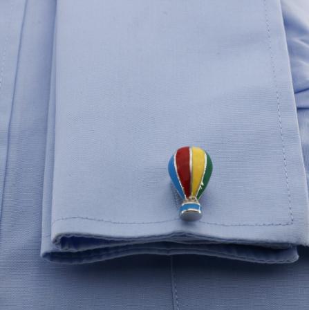 Manžetové knoflíčky létající balón - 3