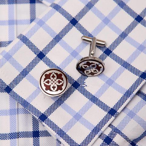 Manžetové knoflíčky kruhový ornament - 3