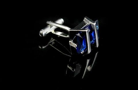 Manžetové knoflíčky Gemstone modrý - 3