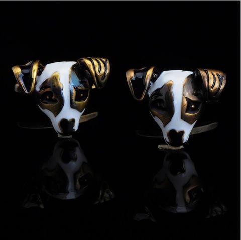 Manžetové knoflíčky psí hlava - 3