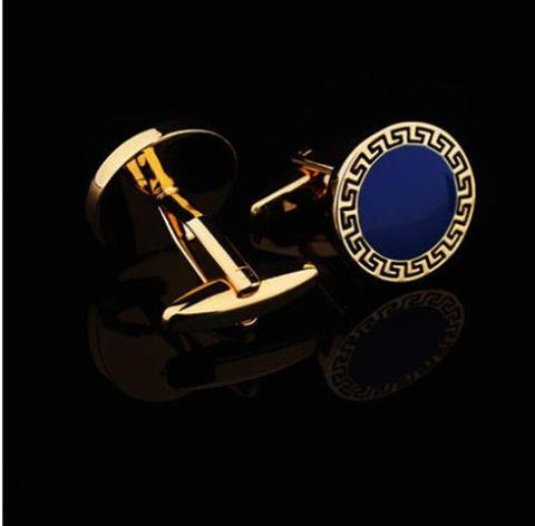 Manžetové knoflíčky řecký znak modré - 3
