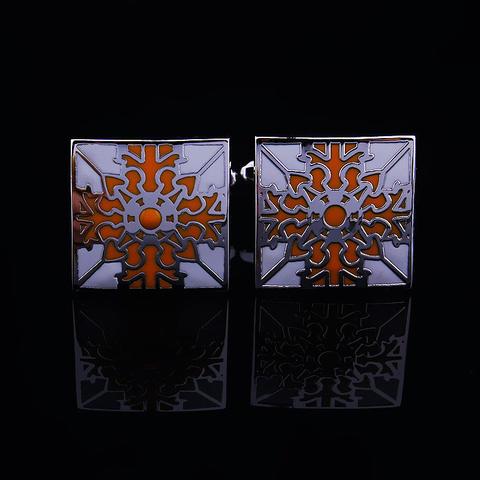 Manžetové knoflíčky oranžový květ - 3