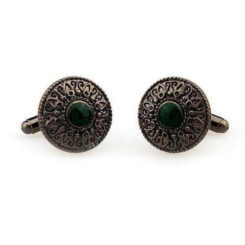 Manžetové knoflíčky zelené oko - 3