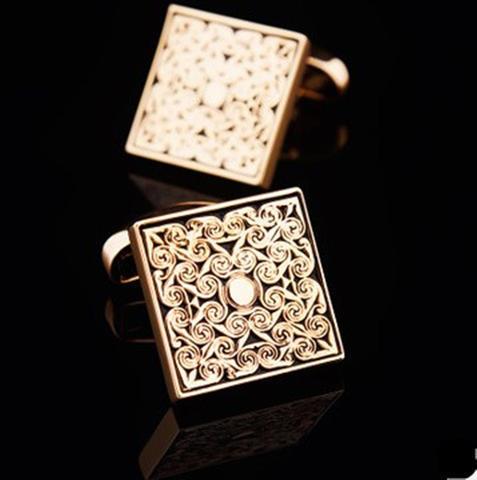Manžetové knoflíčky luxusní zlatý ornament - 3