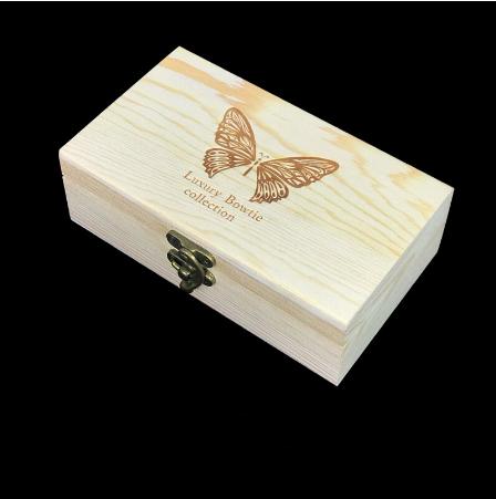 Manžetové knoflíčky s motýlkem z peří modré - 3