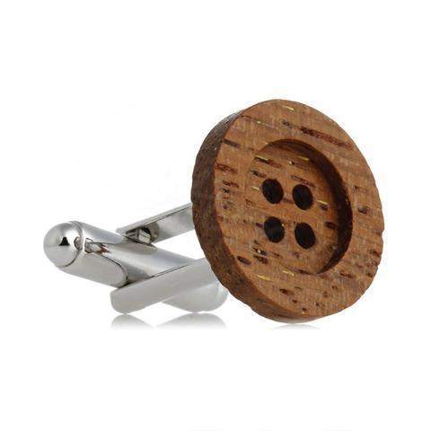 Manžetové knoflíčky dřevěný knoflík - 4