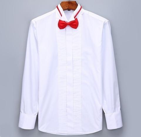 Bíla manžetová košile, velikost 43 - 4