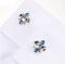 Manžetové knoflíčky Lepton Blue Fleur De Lis - 4/4
