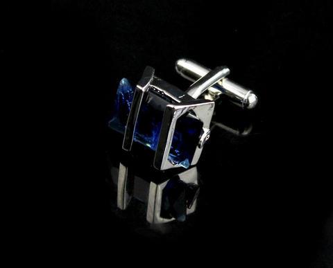 Manžetové knoflíčky Gemstone modrý - 4