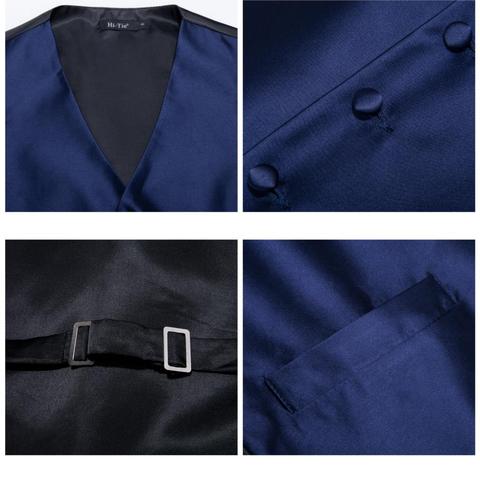 Modrá vesta k obleku s doplňky - 4