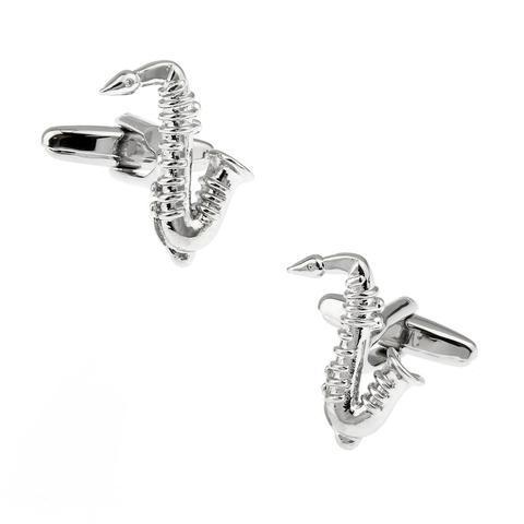Manžetové knoflíčky saxofon - 5