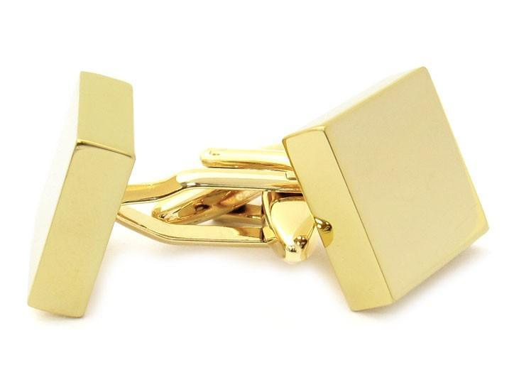 Manžetové knoflíčky ke gravírování - čtverec gold
