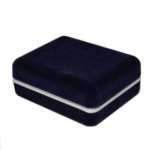 Krabička na manžetové knoflíčky tmavě modrá semiš