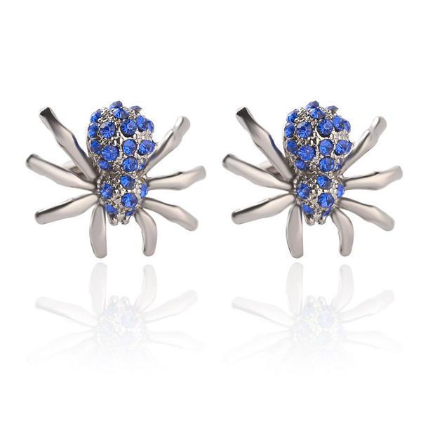 Manžetové knoflíčky modrý pavouček