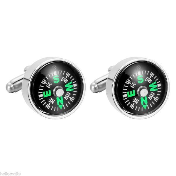Manžetové knoflíčky pohyblivý kompas