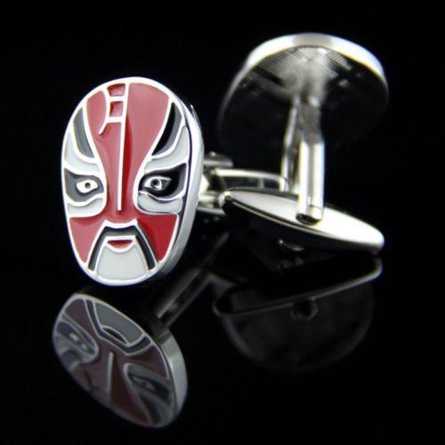 Manžetové knoflíčky maska čínská opera