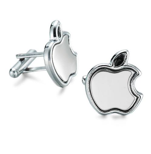 Manžetové knoflíčky apple silver