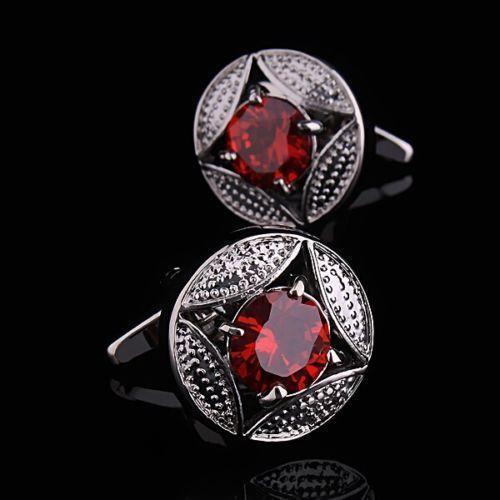 Manžetové knoflíčky rubinová hvězdice