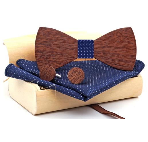 Dřevěné manžetové knoflíčky s motýlkem Perun