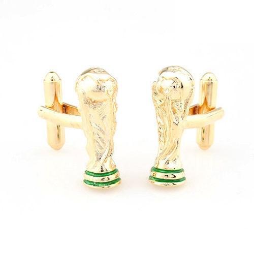 Manžetová knoflíčky FIFA World Cup fotbal gold
