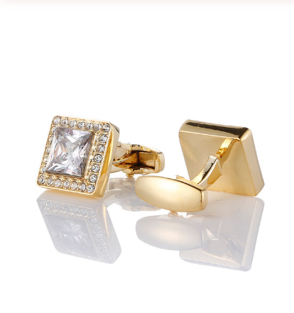 Manžetové knoflíčky luxusní zlatý křišťál