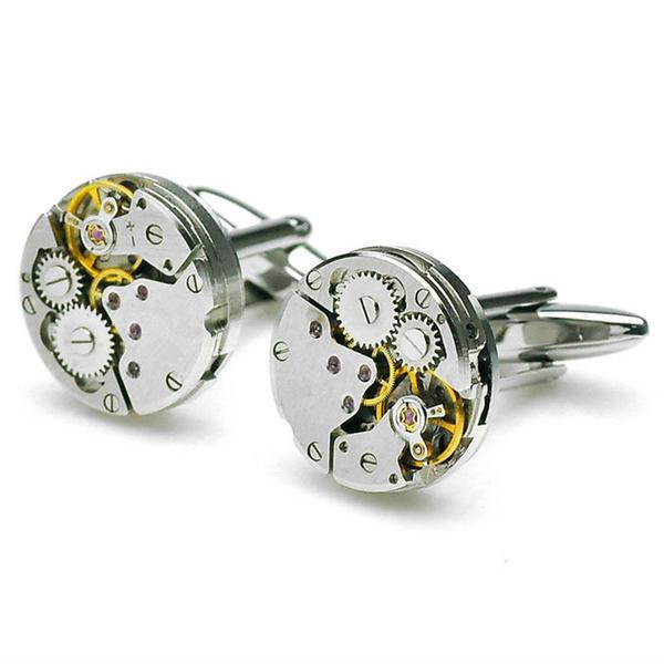 Manžetové knoflíčky hodinový strojek