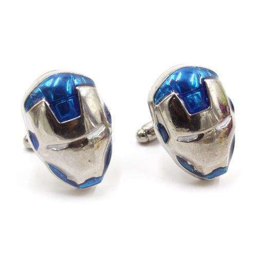 Manžetové knoflíčky Iron Man modré