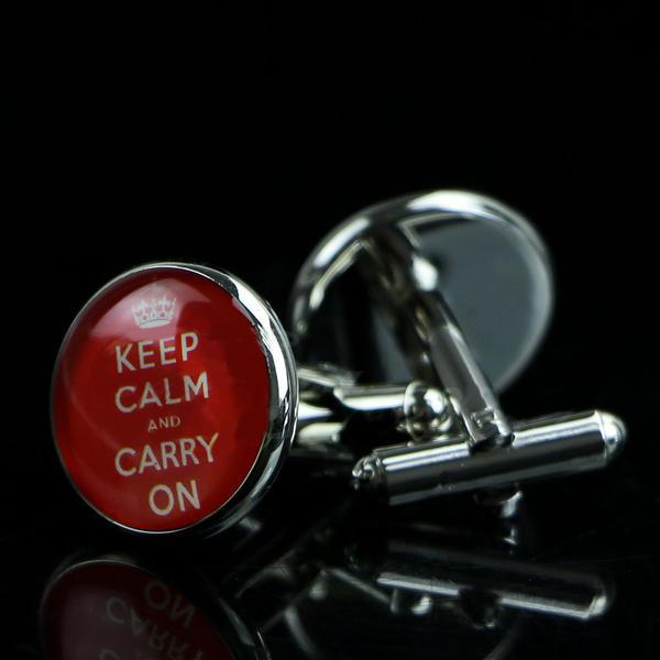 Manžetové knoflíčky Keep calm and carry on