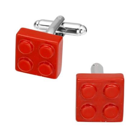 Manžetové knoflíčky červené Lego