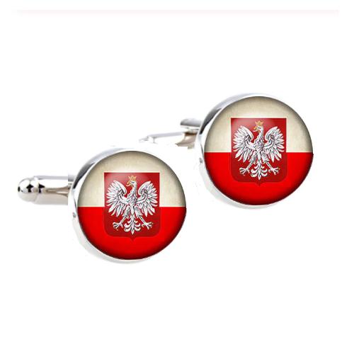 Manžetové knoflíčky polská vlajka