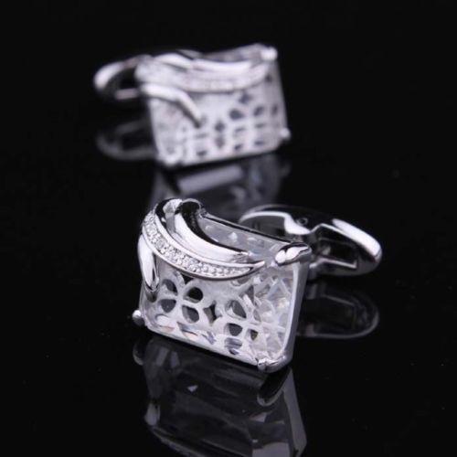 Manžetové knoflíčky průhledný krystal
