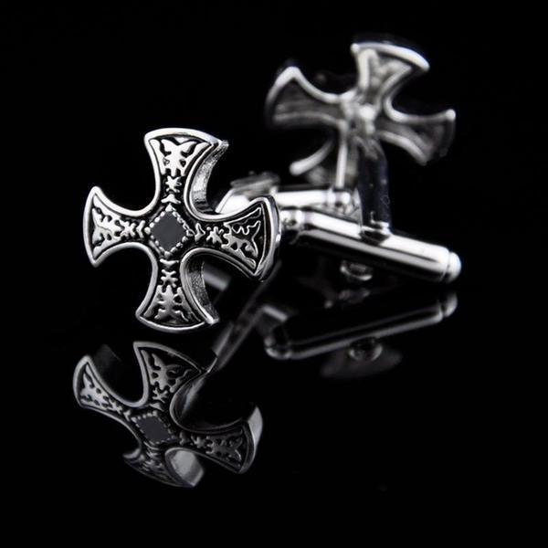 Manžetové knoflíčky zdobený kříž
