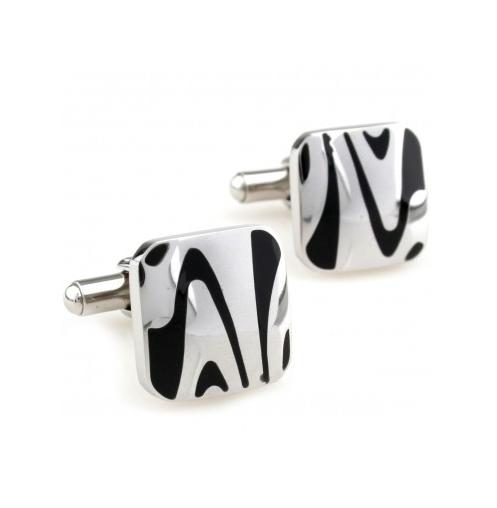 Manžetové knoflíčky zebra